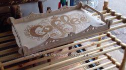 Подносы декоративные с гравировкой из фанеры