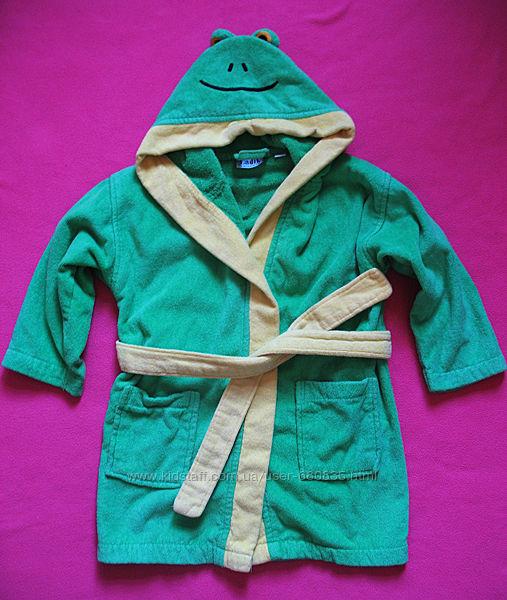 Махровый халат, 100 коттон, на 3-5 лет.