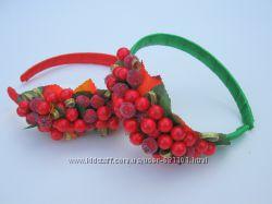 Обруч Калина - украшение к празднику осени и не только