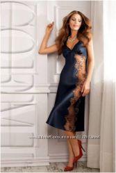 192cc3d2de7 Сорочка ночная рубашка женская шелковая синяя длинная Coemi 151 659 M