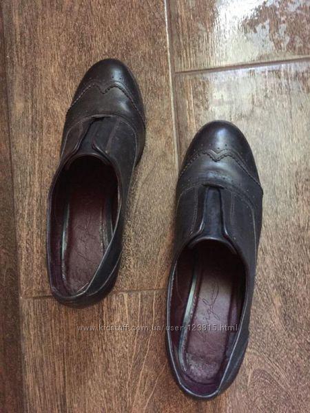 Крутые кожаные туфли atmosfere размер 39-40р.