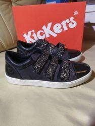Кожаные туфельки KicKers  Оригинал Франция
