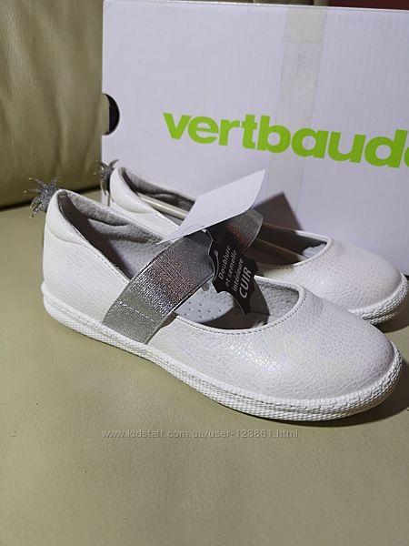 Красивенные кожаные туфельки Vertbaudet 28