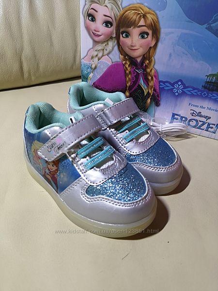 Кроссовки LED Disney Frozen Elsa and Anna Оригинал 24 и 25