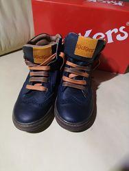 Кожаные деми ботинки KicKers 32 Оригинал Франция