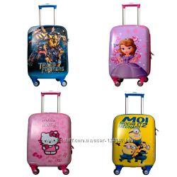 Детские чемоданы на колесах мультяшные герои