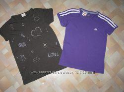 Футболки Zara, Adidas на 9-10лет.