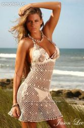 Пляжный сарафан, ручная работа, шикарное качество, цена снижена