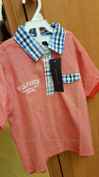 Tommy Hilfiger футболка поло из Америки на 4 года, оригинал, с этикеткой