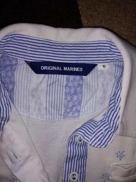Стильное фирменное поло для девочки Original Marines