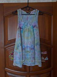 Шифоновая блузка, топ с красивой спинкой, р. 44 евр.