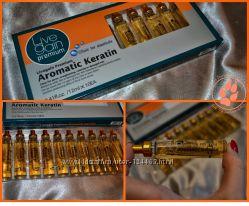Корея. Aromatic keratin. Ампульная программа для лечения волос с кератином.