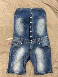 джинсовый комбинезон Dromedar ромпер