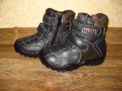 Детские зимние кожа ботинки на мальчика Tita, Buddy Dog в на