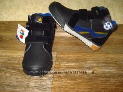 Деми ботинки новые стелька кожа для мальчика тм . MLW наличии 27-31
