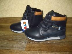 новые Демисезонны ботинки стелька кожа тм MLW на мальчика р. 27-32