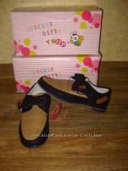 новые мокасины, туфли для мальчика стелька кожа, Y. Top в нал р. 32-37