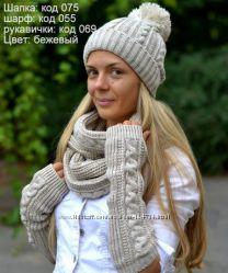 Зимняя шапка 52-56 см есть цвета
