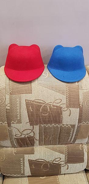 Детская шляпка-жокейка с ушками