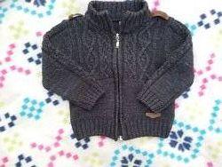 Кофта свитер Турция на молнии серая. В подарок теплые мокасины для дома