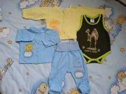 Пакет вещей на ребенка р. 62-68-74.
