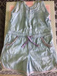 Ромпер легкий джинсовый chicco, 122
