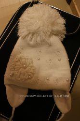 Шапка белая зимняя, бу