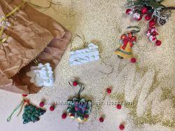 Новогодние украшения из гипса своими руками