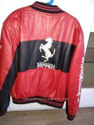 Кожаная куртка на мальчика formula 1 ferrari
