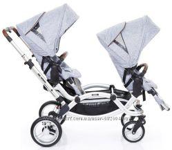 Прогулочная коляска для двойни ABC Design Zoom Graphite 71085518