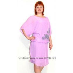 Новое нарядное легкое платье Ноелла марсель батал р. 56
