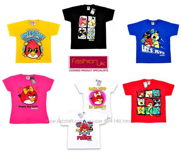 Футболки Angry Birds Ангри бердс детские 3-4 11-12 13-14 Fashion UK Англия
