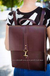 Рюкзак кожаный городской повседневный для ноутбука и планшета