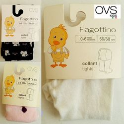 Колготы детские на 0-6м, 6-12, 12-24мес OVS kids Италия