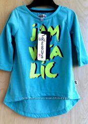 Туника летняя реглан футболка на девочки 3-4 лет 98-104см бренд Rebus Дания