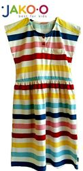 Платье детское летнее яркое на 4-5 лет рост 104-110 см бренд Jako-O Италия