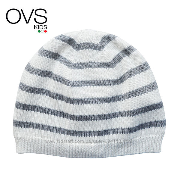 Шапка деми на малыша новорожденного 6-9м ОГ 42-44см детская OVS kids Италия