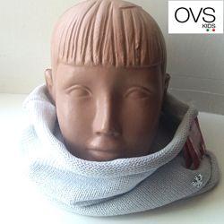 Хомут баф детский шарф снуд для девочки светлосерый OVS kids Италия
