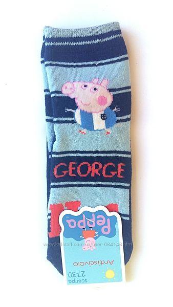 Носки детские с тормозами махра антискользящие 4-7 л 27-30 Peppa Pig Италия