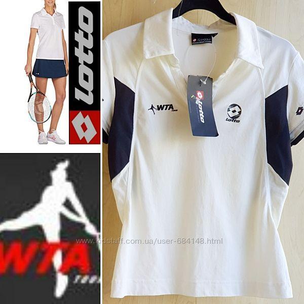 Поло футболка WTA для тенниса женская спортивная р. S EU 38 Lotto Италия