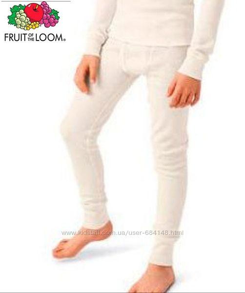 Термоштаны поддева для мальчика детские на 4-5л 8-9л Fruit of the Loom США