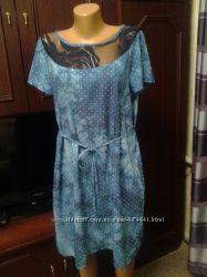 платье штапель под джинс. 50-52