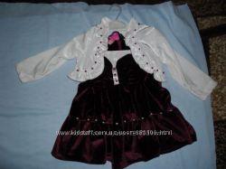 Платье с болеро на девочку Турция на рост 98