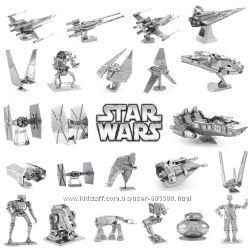 Металлические 3D модели пазлы Звездные войны