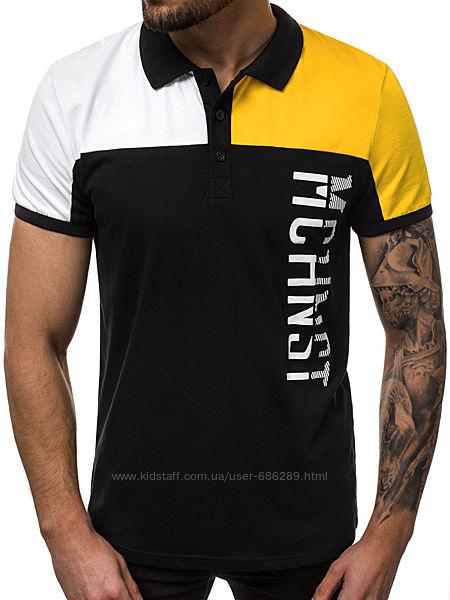 Поло мужское MCHNST M Черно-желтый LS502R
