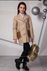 Кашемировое пальто для девочки, стильная классика, ТМ Сьюзи, р. 134-158