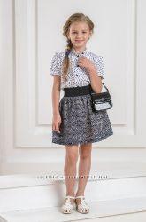 Красивая повседневная блузка в школу в горошек, Baby Angel, р. 122-134