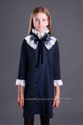 Живые фото Изумительное школьное платье со съемным воротником, р. 140-158