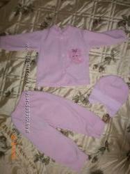 Тепленький костюм тройка для девочки на 2 года