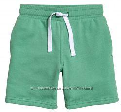 Трикотажные шорты H&M Салатовые на мальчика размер 116 на 5-6 лет